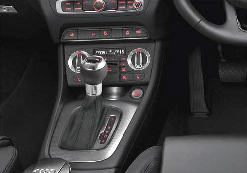 Audi Q3 gear shifter.