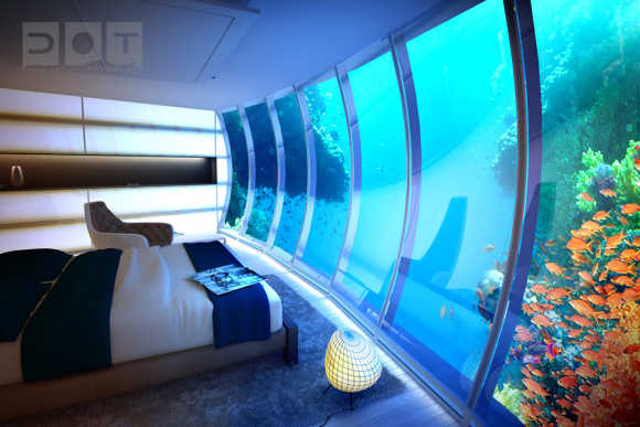 amazing images of underwater hotel in dubai