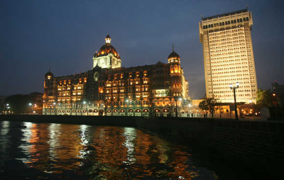 A view of Taj hotel in Mumbai.