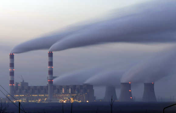 View of the Belchatow Power Station, Europe's largest thermal power plant, near Belchatow, Poland.