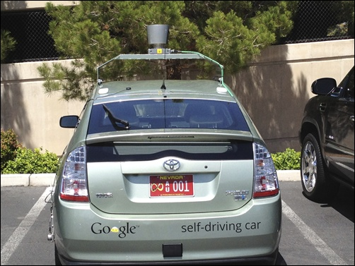 Handout photo of the Google self-driven car in Las Vegas.
