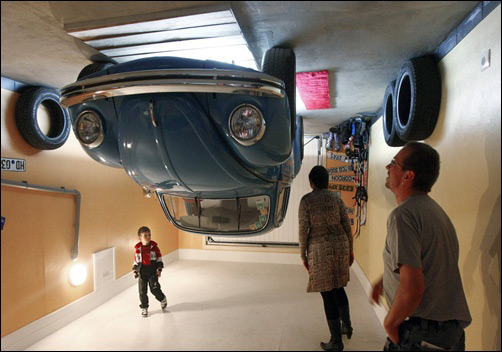 Amazing attraction: A house built upside down!