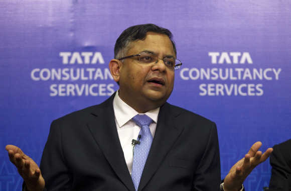 N Chandrasekaran, CEO, Tata Consultancy Services. A file photo.