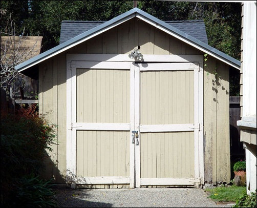 Garage in Palo Alto where H-P was born.