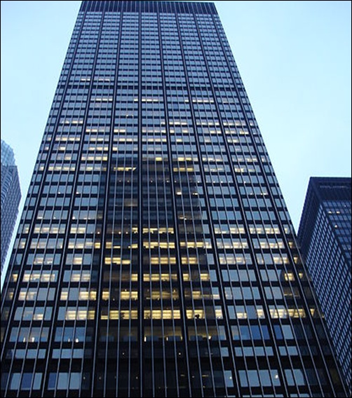 J.P. Morgan Chase headquarters.