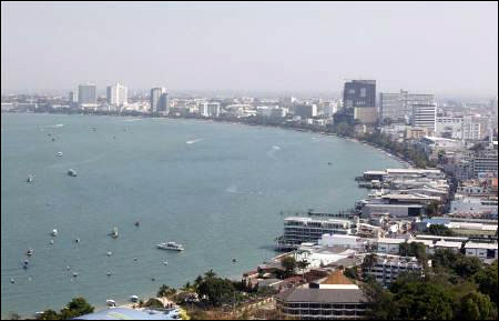 A general view shows the beach town of Pattaya.