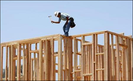 New home construction continues in Carlsbad, California.