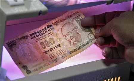 Rupee notes.
