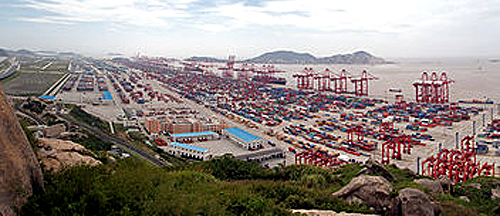 Shanghai Yangshan Deep Water Port.