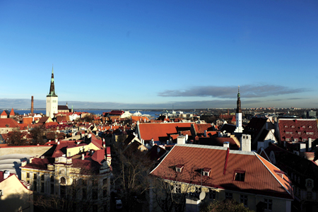 A general view of the medieval city of Tallinn