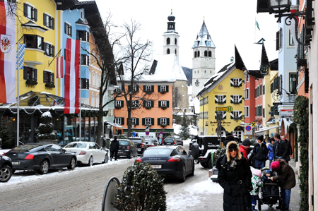 General view of city center seen on January 14, 2012 in Kitzbuehel, Austria