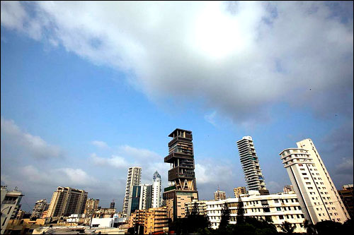 The 27-story Antilia is named after a mythical island