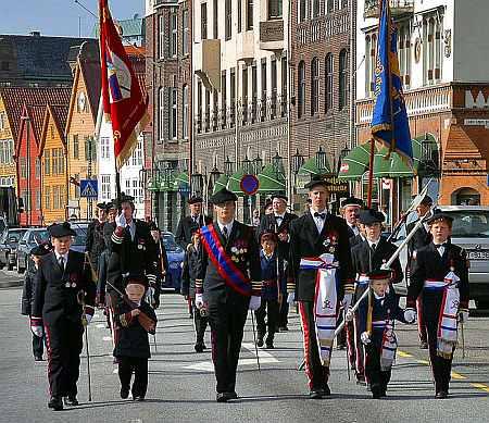 The Markens and Mathismarkens Buekorps at Bergen
