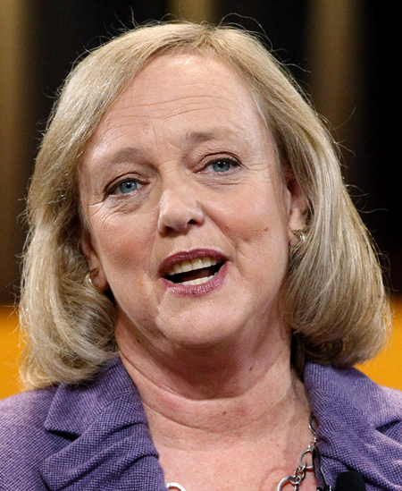 HP chief executive Meg Whitman.