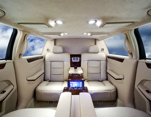 Mercedes S550 Pullman 54 interior.