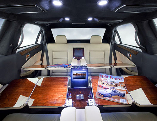 Mercedes S550 Pullman 54 interior.