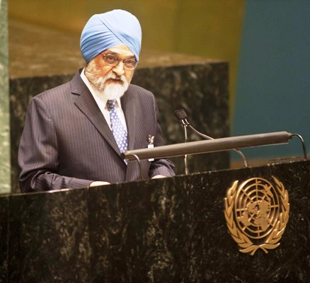 Montek Singh Ahluwalia, Deputy Chairman Planning Commission, at the debate on 'State of the World Economy and Finance in 2012' at the UN General Assembly, on May 17, 2012.
