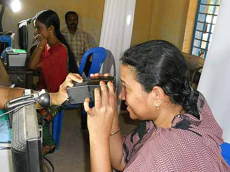 UID process- equipment used for taking picture of iris