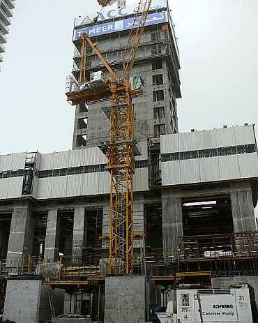 Construction of Princess Tower