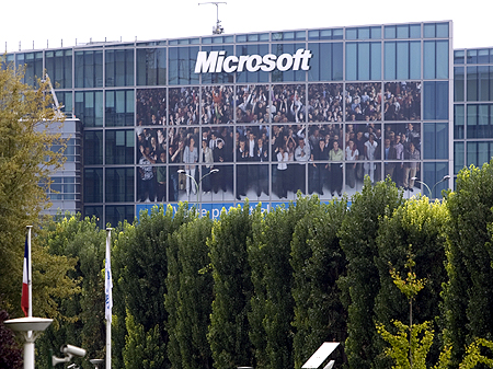 General view of Microsoft Corporation new headquarters in Issy-les-Moulineaux, near Paris