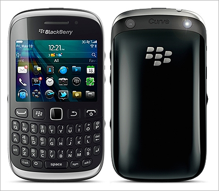 3G-compatible BlackBerry Curve 9320 smartphone.