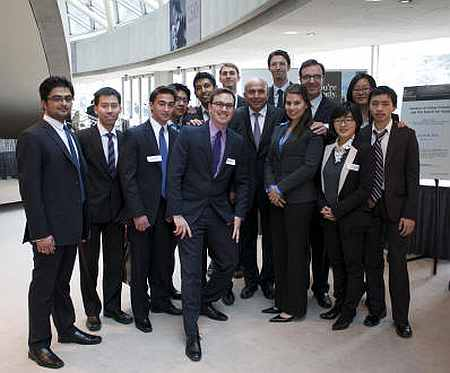 Prem Watsa with Dr Athanassakos and his students