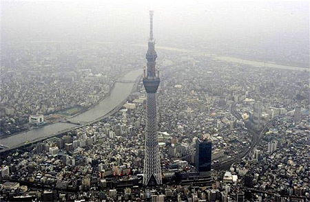 Japan's biggest new landmark, the Tokyo Skytree.