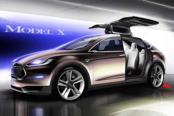 Tesla Motors' Model X.