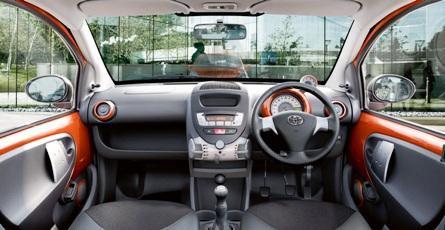 Toyota Aygo interior.