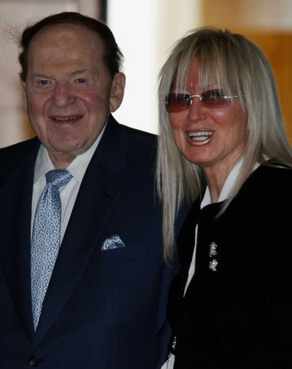 Sheldon Adelson with his wife Miriam.