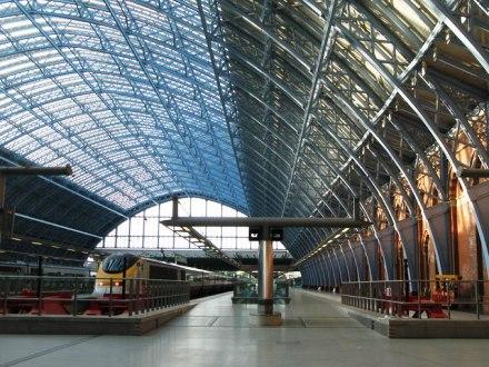 St. Pancras Station -- Eurostar platforms.