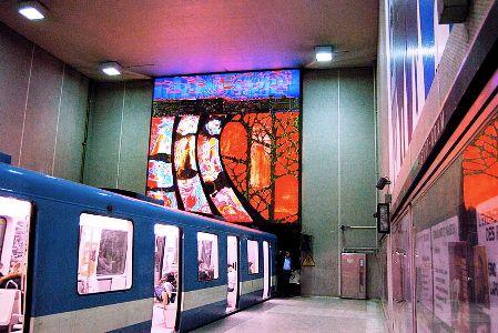 Berri-UQAM Metro Station in the Montreal metro.