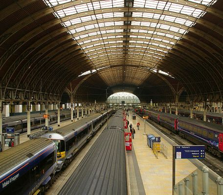 London Paddington Railway Station.
