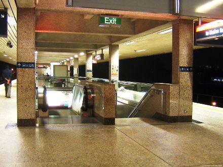 Platform of NS15, Yio Chu Kang MRT Station.
