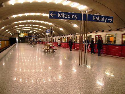 Warsaw Metro station Wierzbno.