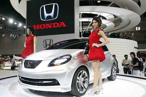 Honda's concept car in Bangkok.