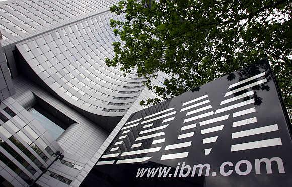 A view of IBM headquarters at la Defense in Paris.