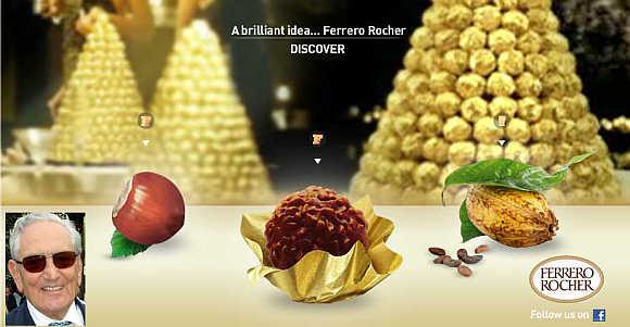 Michele Ferrero, inset.
