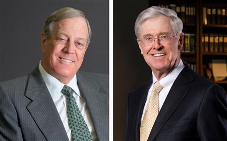 Charles, left, and David Koch, right.