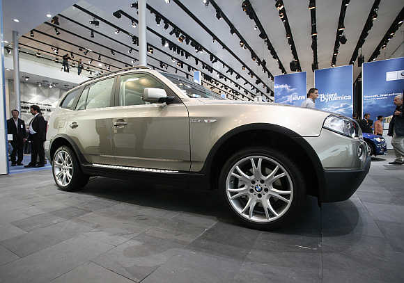 BMW X5 on display in Frankfurt, Germany.