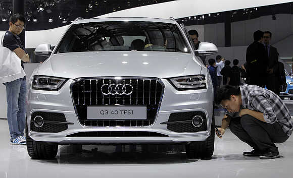 Audi Q3 40 in Beijing, China.