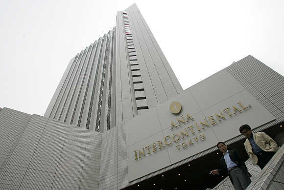 An Intercontinental hotel in Tokyo.