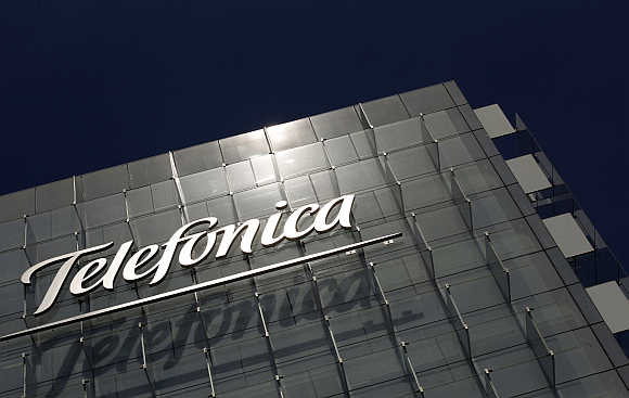 Telefonica's headquarters in Madrid, Spain.