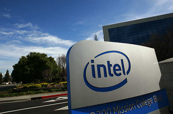 Intel headquarters in Santa Clara, California.