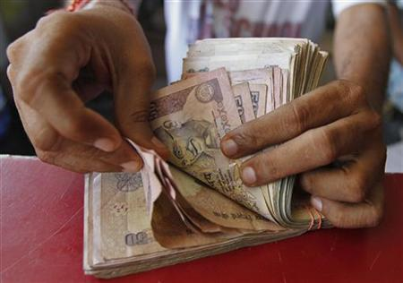 Rupee has again slipped below the 55-level against dollar.