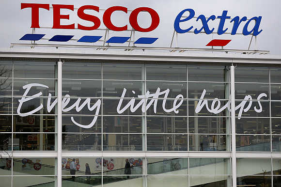 A Tesco store near Manchester, England.