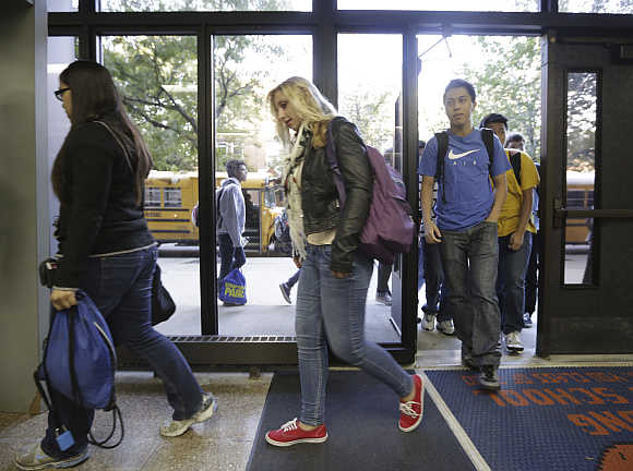 Students make their way to Whitney Young High School in Chicago. Photo is for representation purpose only.