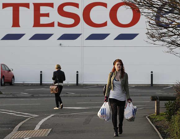 A Tesco supermarket in London.