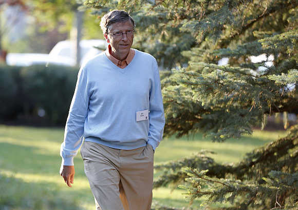 Bill Gates in Sun Valley, Idaho.