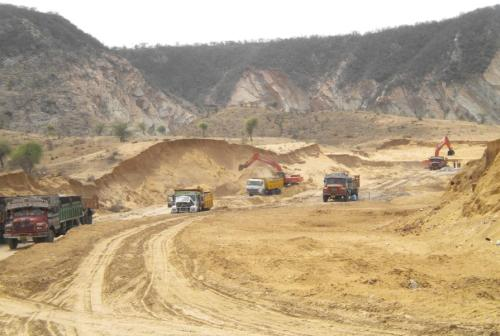 The on-going work at the Ghat ki Guni Tunnel Project